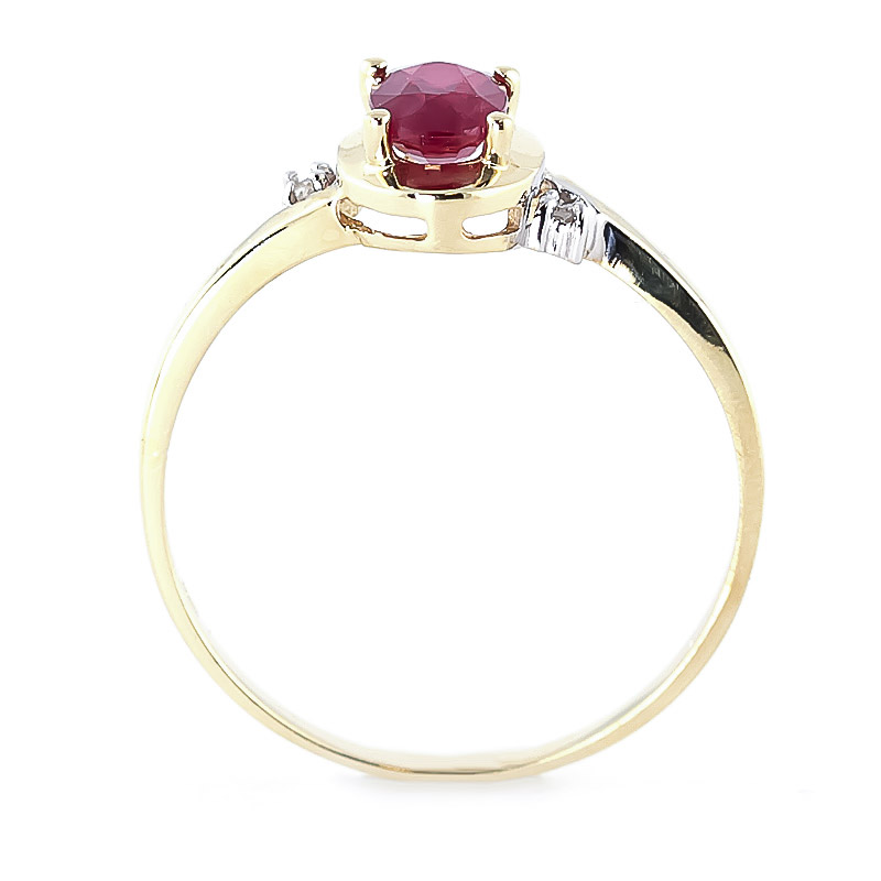 Ruby & Diamond Meridian Ring in 9ct Gold