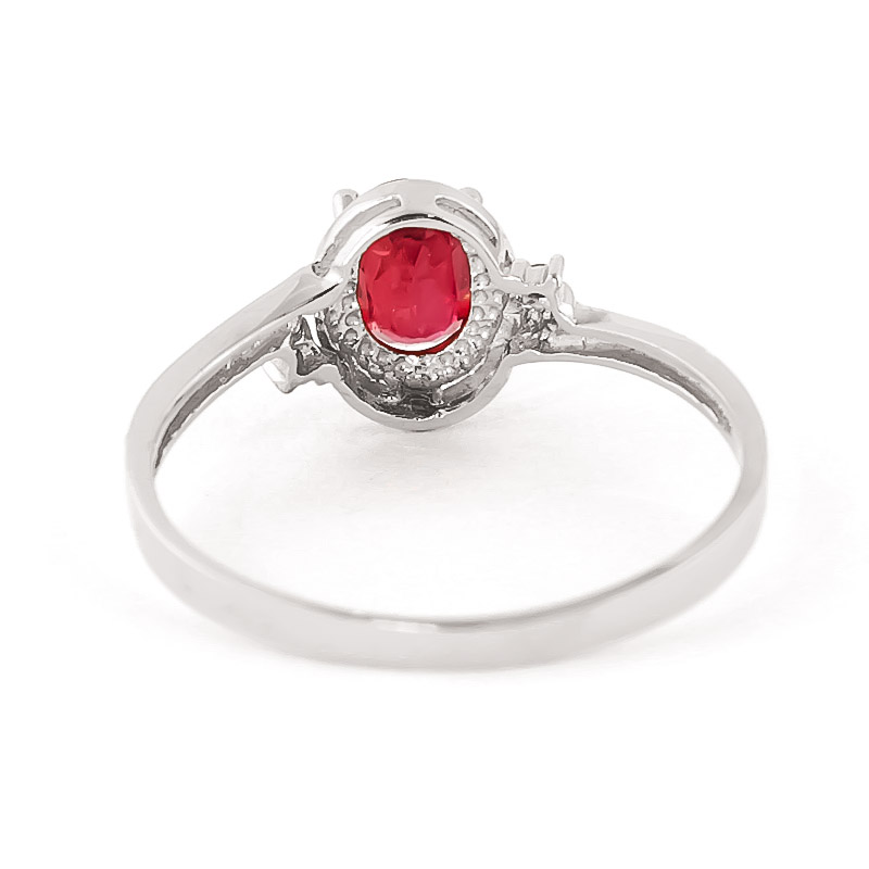 Ruby & Diamond Meridian Ring in Sterling Silver
