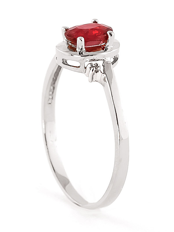 Ruby & Diamond Meridian Ring in 9ct White Gold