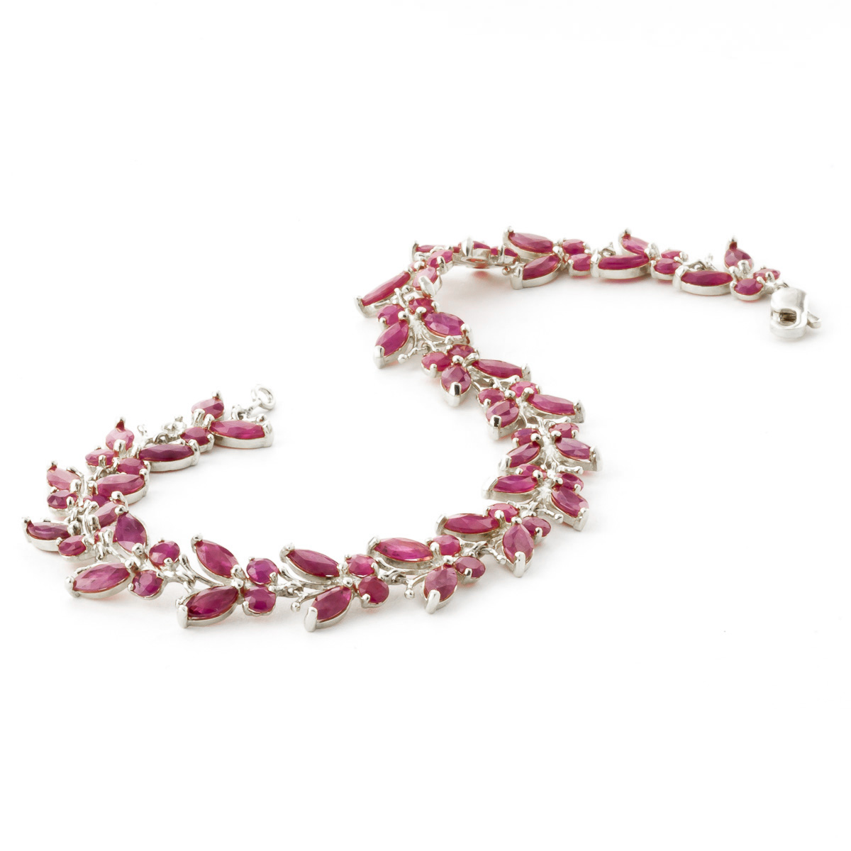 Ruby Butterfly Bracelet 16.5 ctw in 9ct White Gold