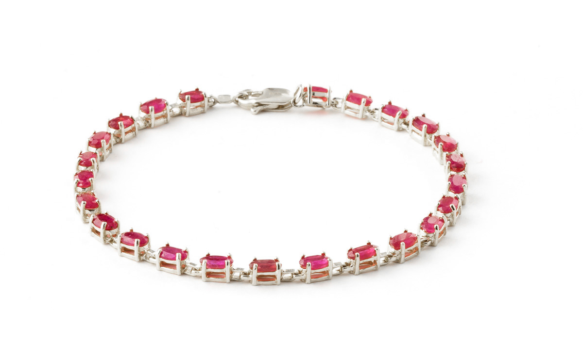 Ruby Infinite Tennis Bracelet 8 ctw in 9ct White Gold