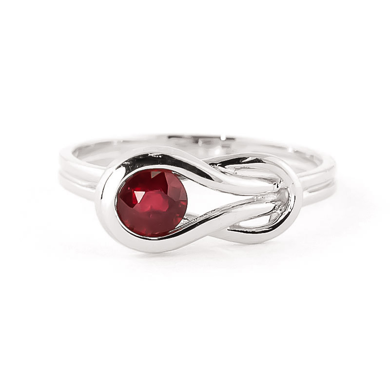 Ruby San Francisco Ring 0.65 ct in 9ct White Gold
