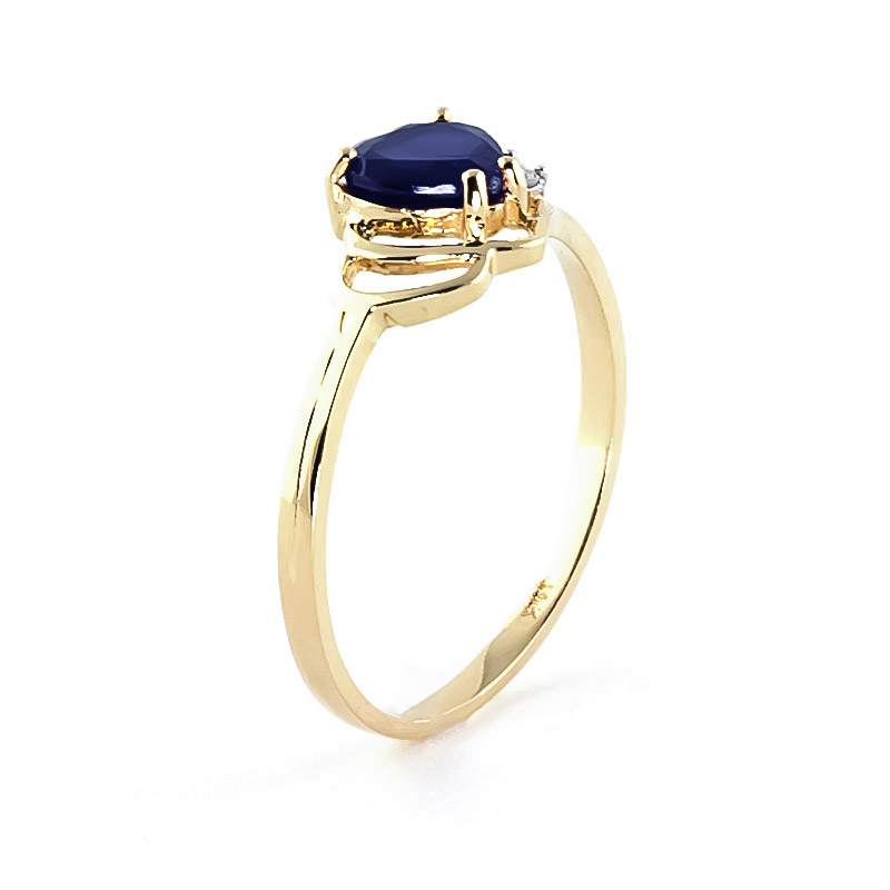 Sapphire & Diamond Devotion Ring in 9ct Gold