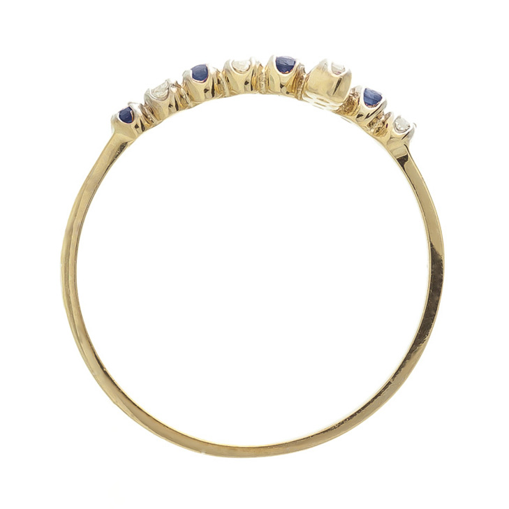Sapphire Cross Ring 0.24 ctw in 9ct Gold