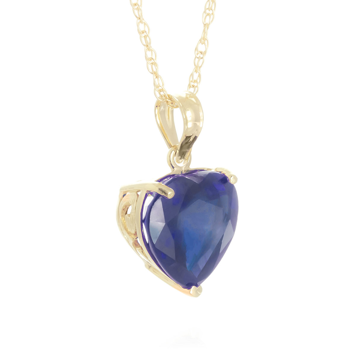 Sapphire large heart pendant necklace 43 ct in 9ct gold 5665y sapphire large heart pendant necklace 43 ct in 9ct gold mozeypictures Gallery