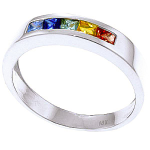 Sapphire Princess Prestige Ring 0.6 ctw in Sterling Silver