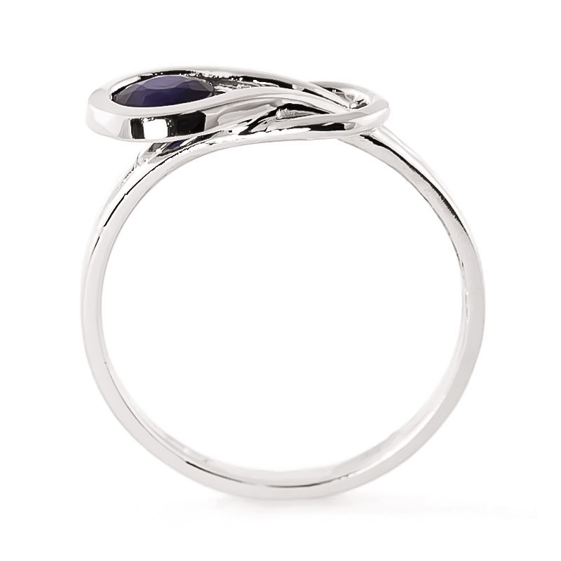 Sapphire San Francisco Ring 0.65 ct in Sterling Silver