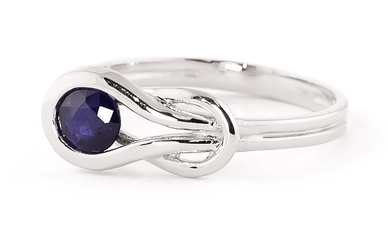 Sapphire San Francisco Ring 0.65 ct in 9ct White Gold