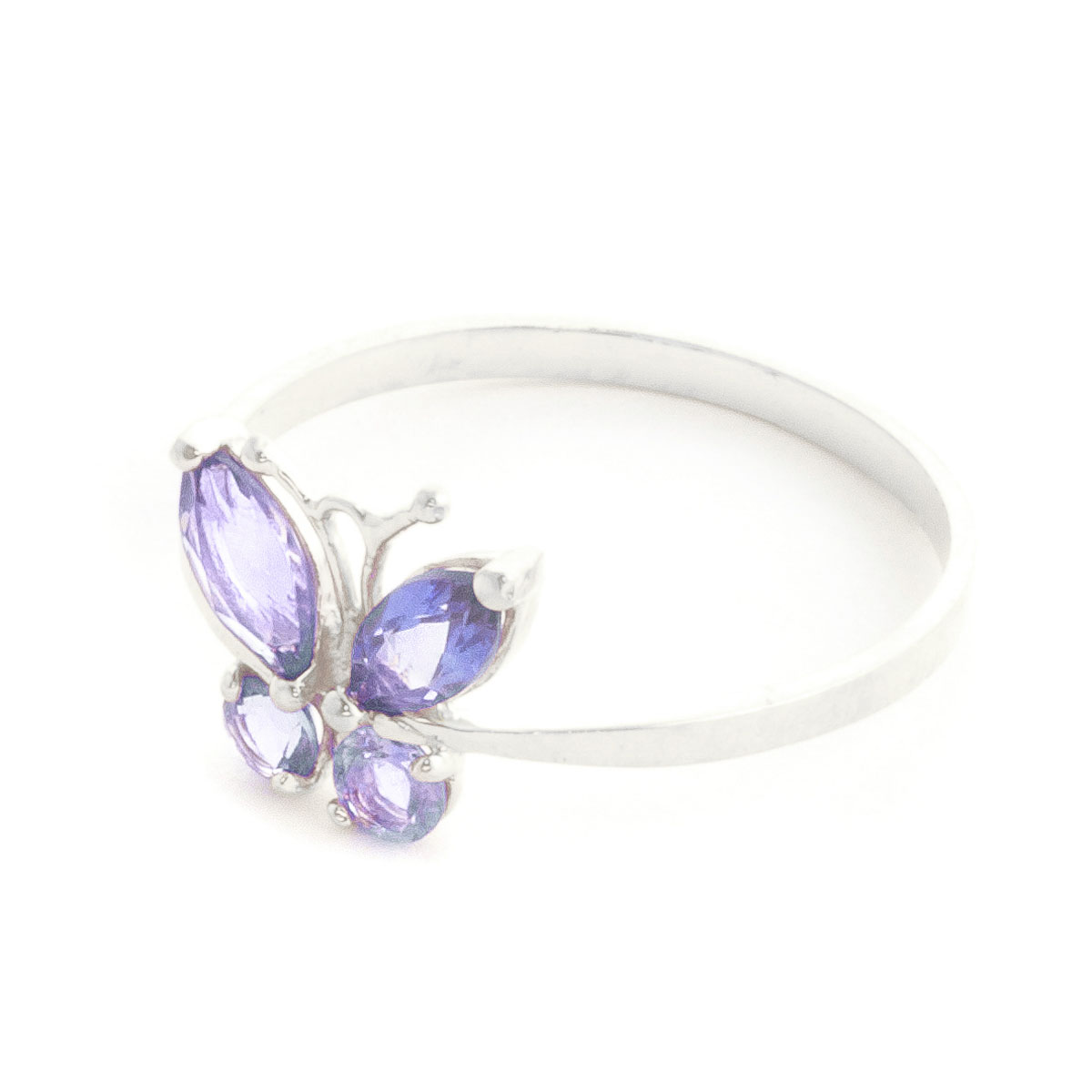 Tanzanite Butterfly Ring 0.6 ctw in Sterling Silver
