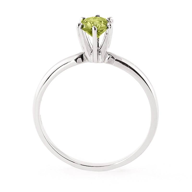 Green Diamond Crown Solitaire Ring in 9ct White Gold