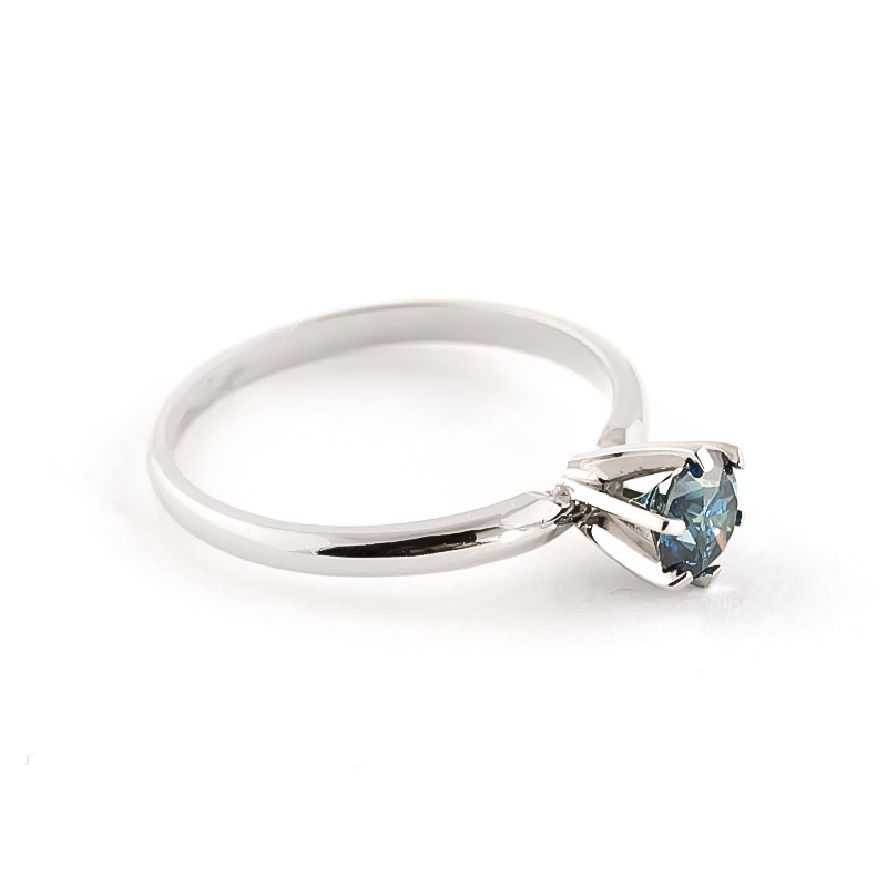 Diamond Crown Solitaire Ring in 9ct White Gold