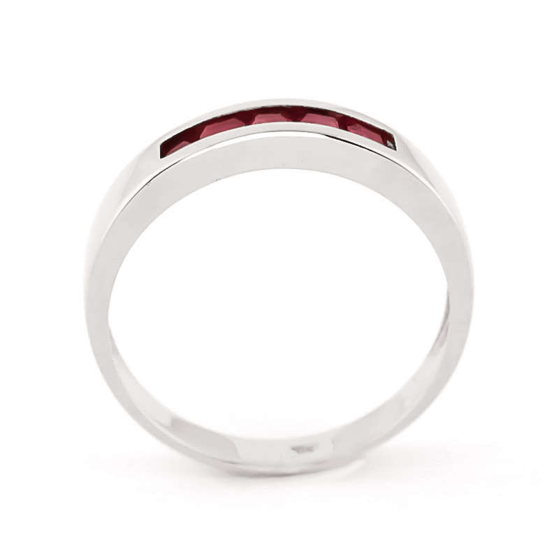 Princess Cut Ruby Ring 0.6ctw in 9ct White Gold