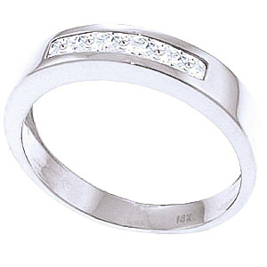 Princess Cut White Topaz Ring 0.6ctw in 9ct White Gold