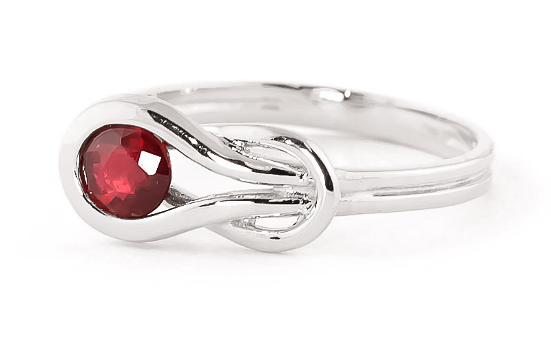 Ruby San Francisco Ring 0.65ct in 9ct White Gold