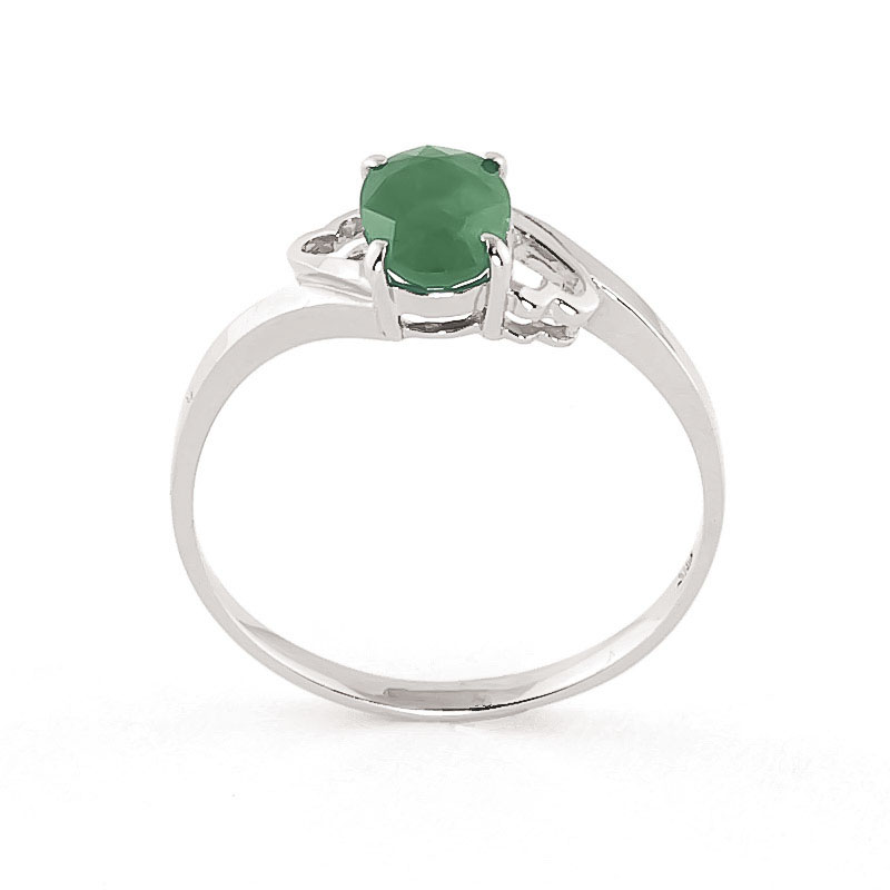 Emerald Classic Desire Ring 0.75ct in 9ct White Gold
