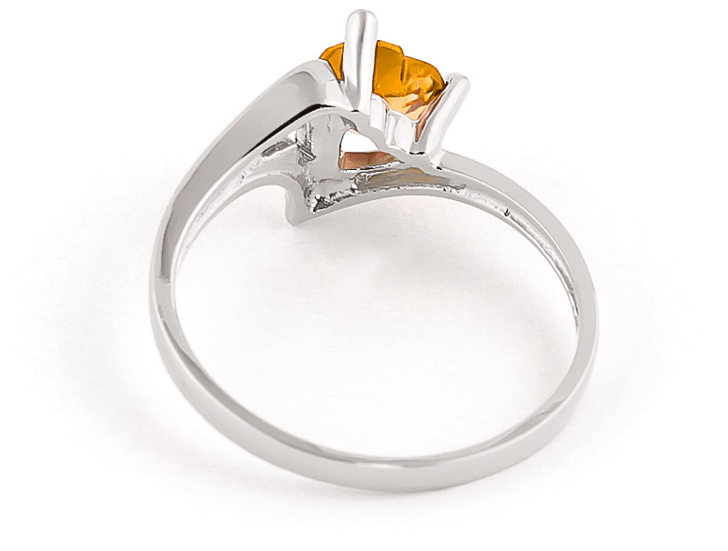 Citrine Devotion Heart Ring 0.95ct in 9ct White Gold
