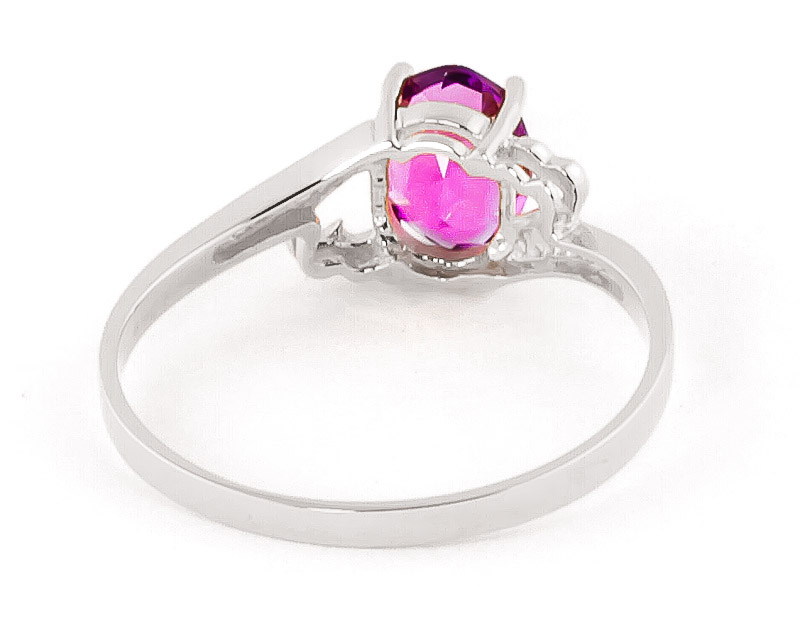 Pink Topaz Classic Desire Ring 1.0ct in 9ct White Gold
