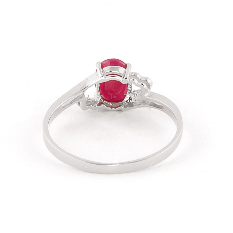 Ruby Classic Desire Ring 1.15ct in 9ct White Gold