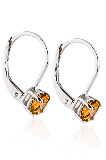 Citrine Boston Drop Earrings 1.2ctw in 9ct White Gold