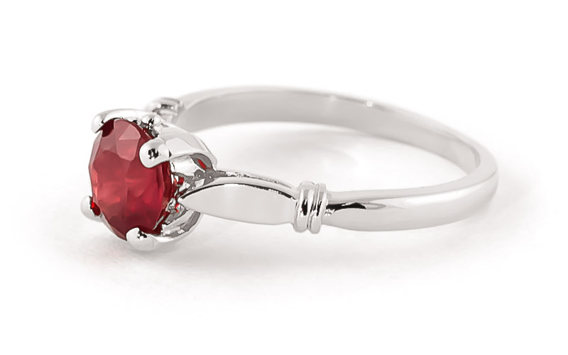 Round Brilliant Cut Ruby Solitaire Ring 2.0ct in 9ct White Gold