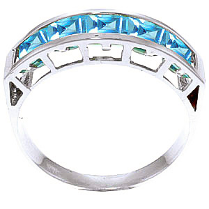 Square Cut Blue Topaz Ring 2.25ctw in 9ct White Gold
