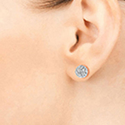Cubic Zirconia Paris Stud Ball Earrings 4.0ctw in 9ct White Gold