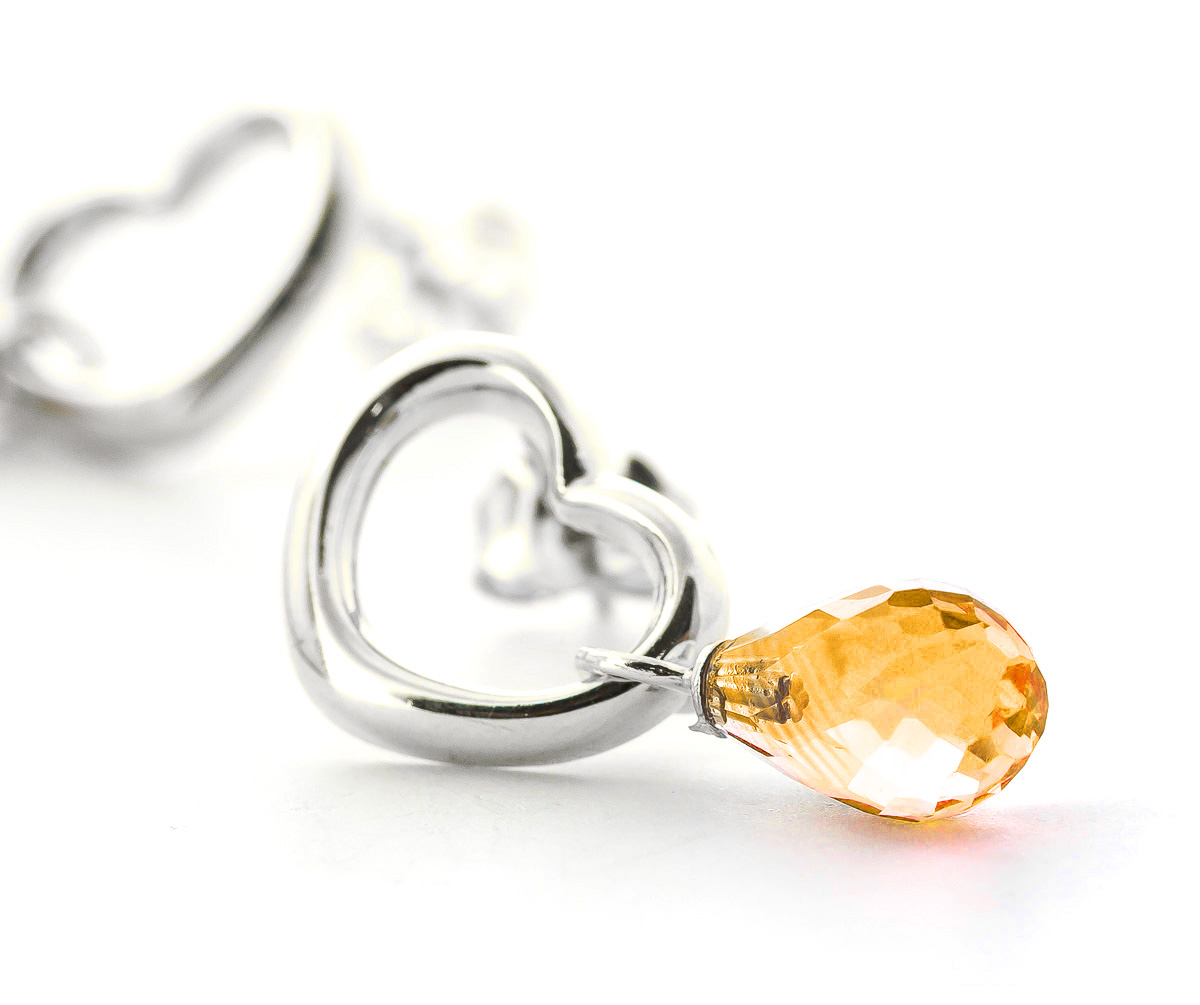 Citrine Stud Earrings 4.5ctw in 9ct White Gold