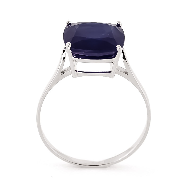Sapphire Rococo Ring 4.83ct in 9ct White Gold