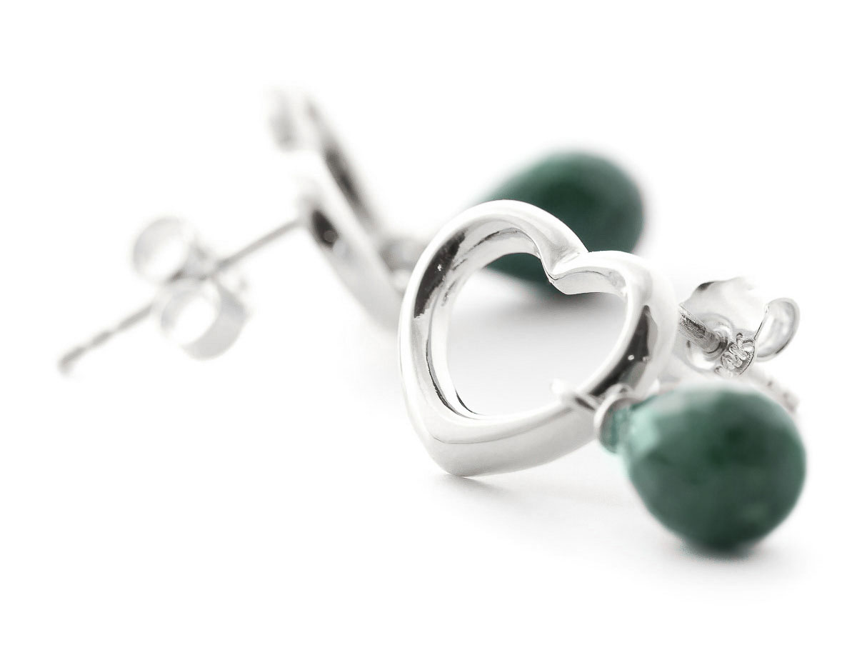 Emerald Stud Earrings 6.6ctw in 9ct White Gold