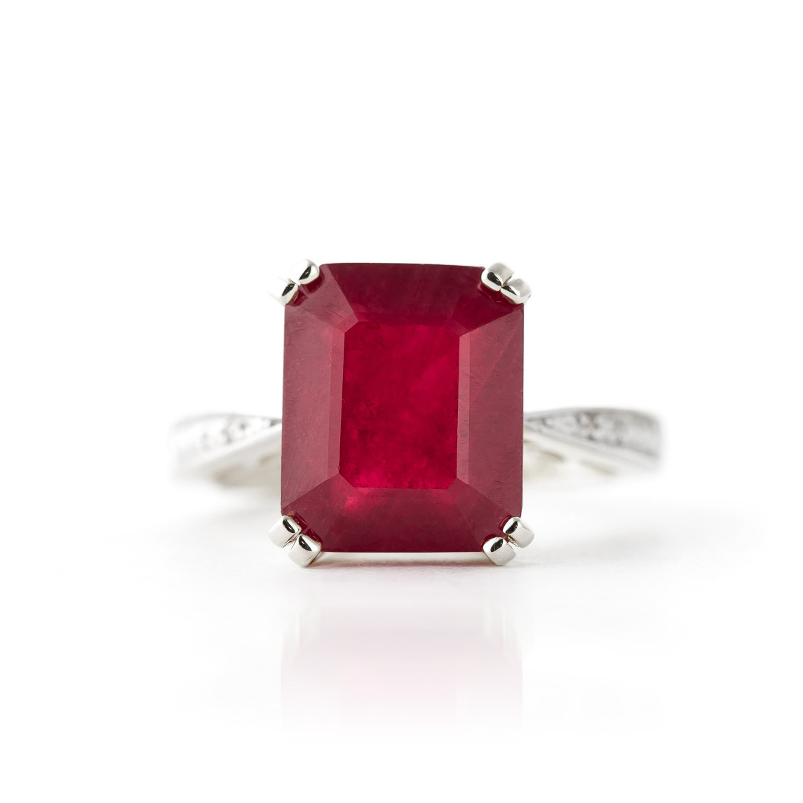 Ruby and Diamond Ring 7.25ct in 9ct White Gold