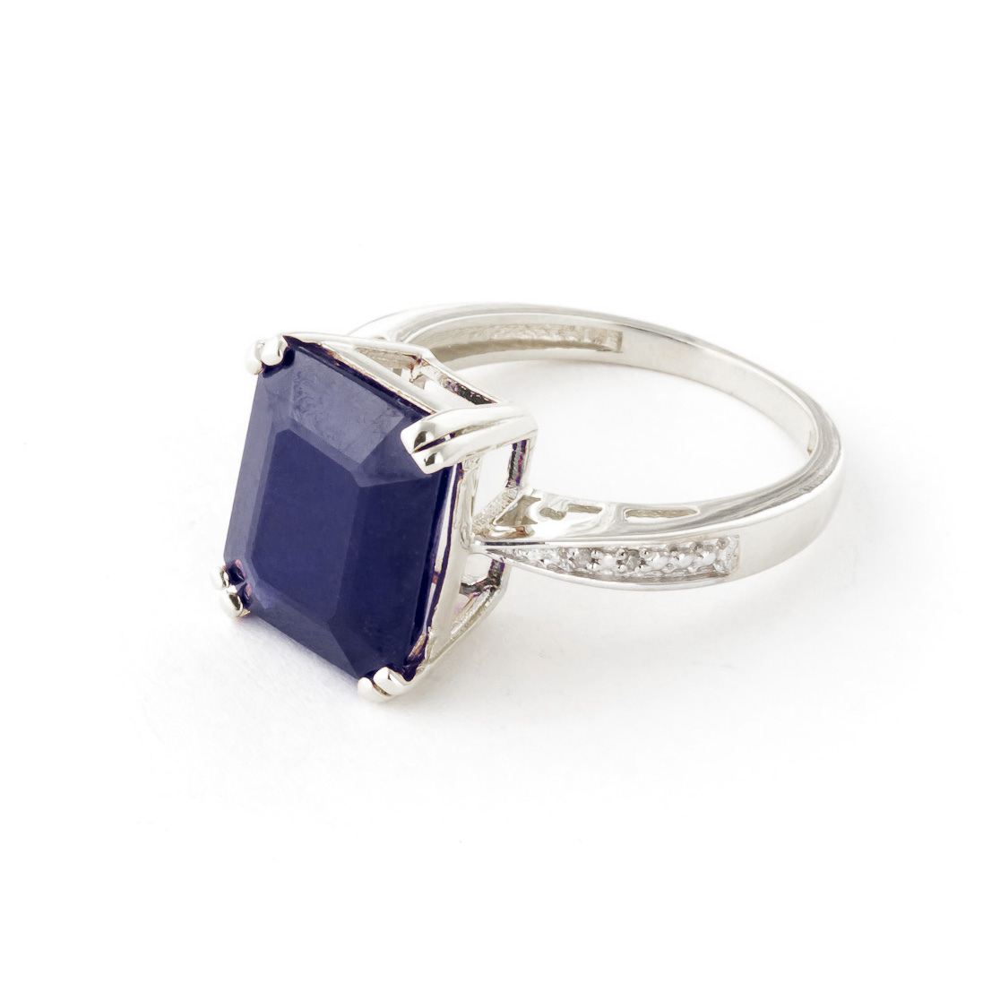 Sapphire and Diamond Ring 7.25ct in 9ct White Gold