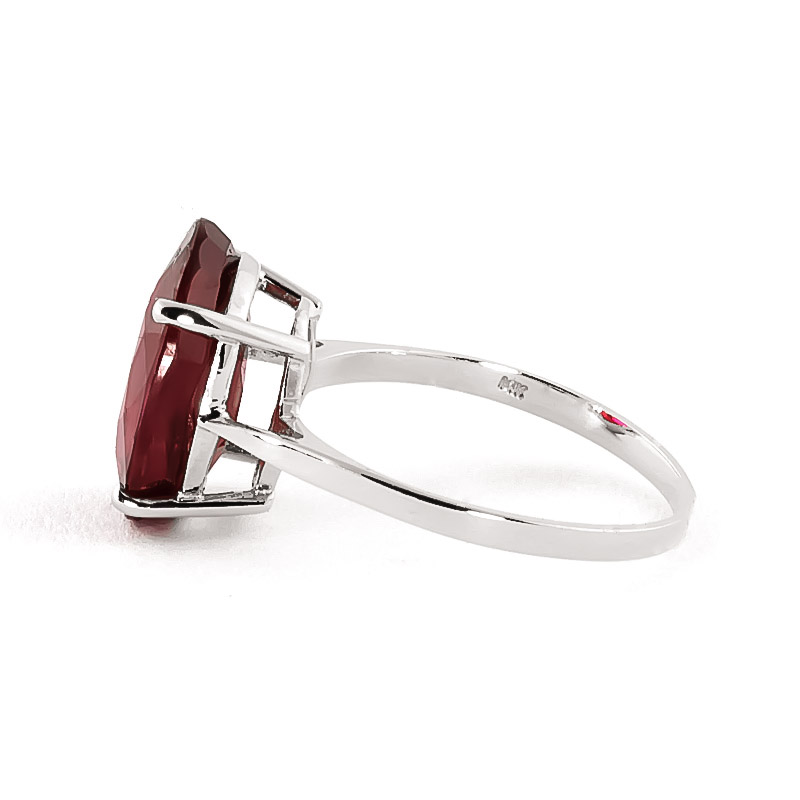 Oval Cut Ruby Ring 7.5ct in 9ct White Gold
