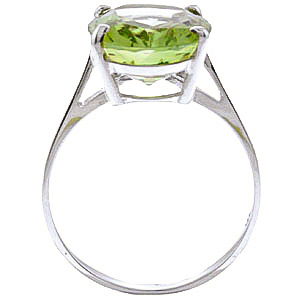 Oval Cut Green Amethyst Ring 7.55ct in 9ct White Gold