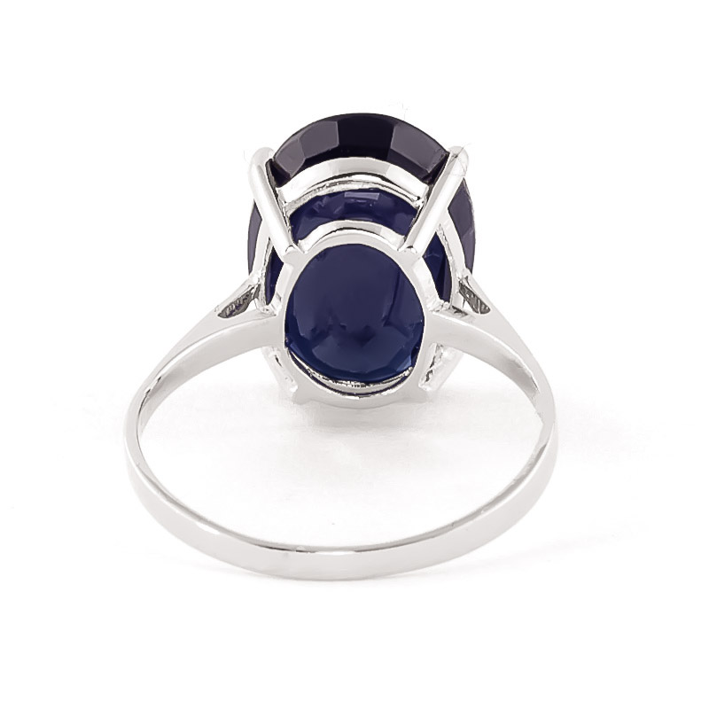 Oval Cut Sapphire Ring 8.5ct in 9ct White Gold