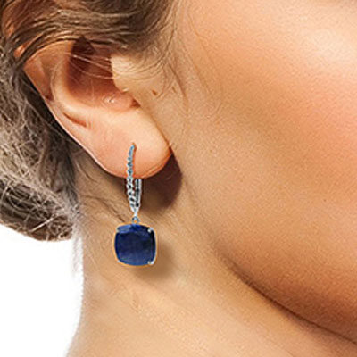 Sapphire Rococo Twist Drop Earrings 9.66ctw in 9ct White Gold