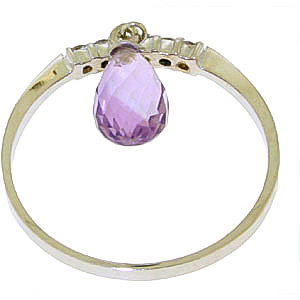 Diamond and Amethyst Ring in 9ct White Gold