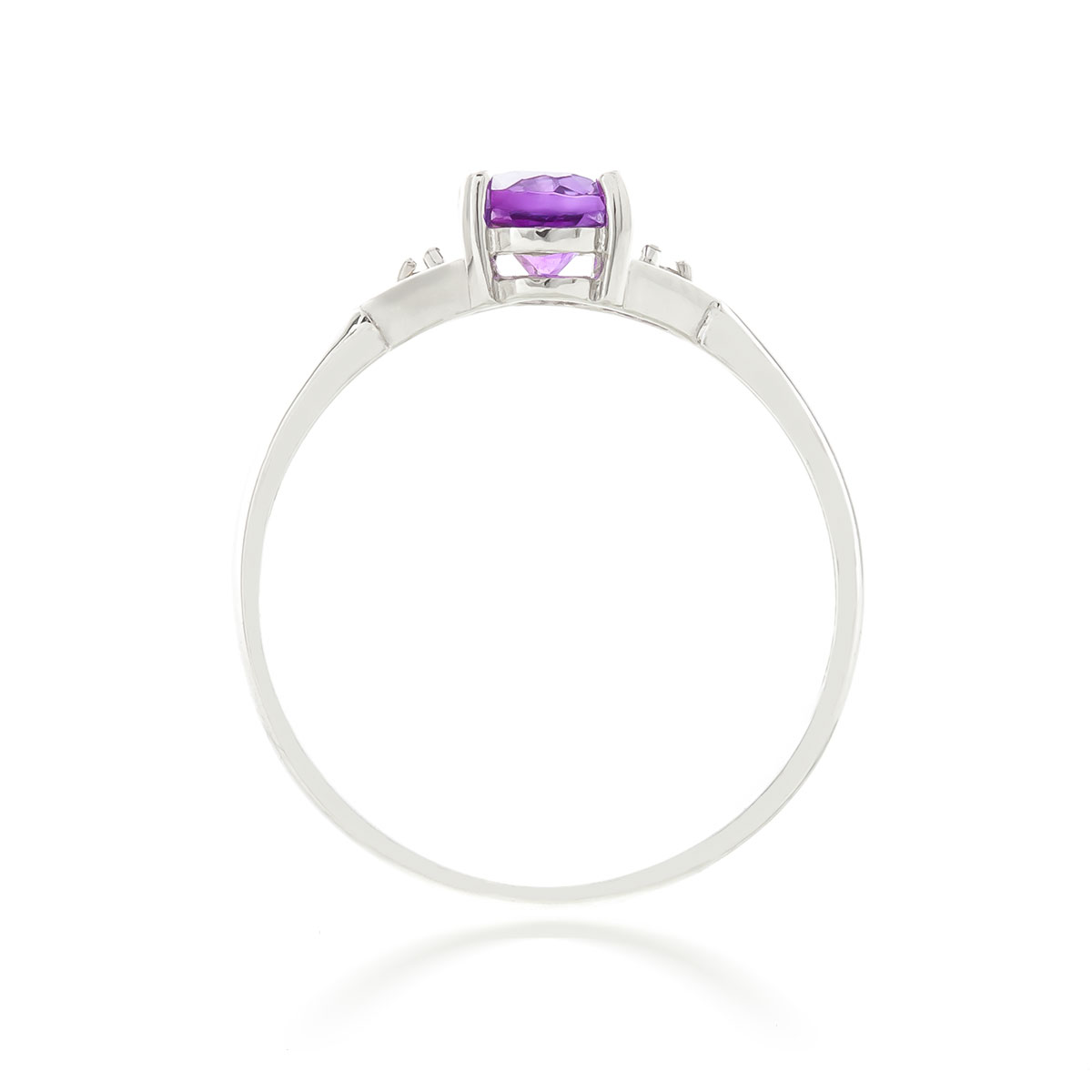 Amethyst and Diamond Allure Ring 0.45ct in 9ct White Gold