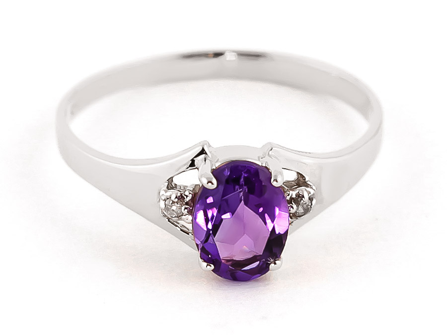 Amethyst and Diamond Desire Ring 0.75ct in 9ct White Gold