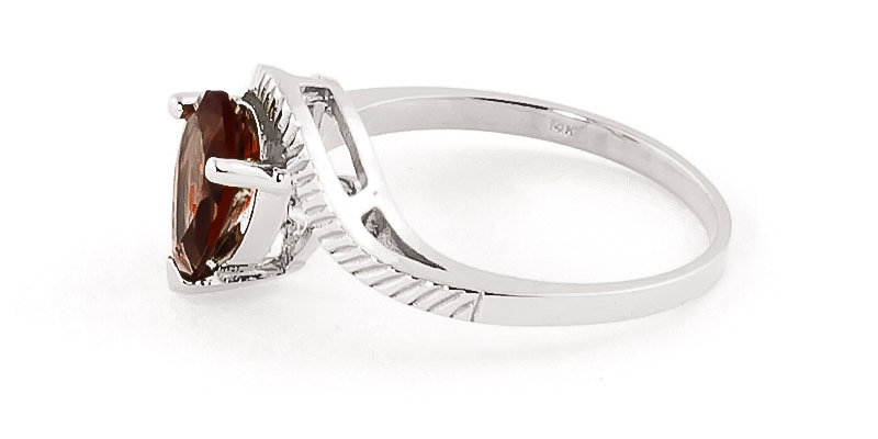 Garnet and Diamond Belle Ring 1.5ct in 9ct White Gold