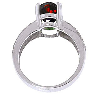 Garnet and Diamond Renaissance Ring 3.0ct in 9ct White Gold