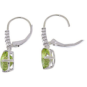 Green Amethyst and Diamond Belle Drop Earrings 3.0ctw in 9ct White Gold