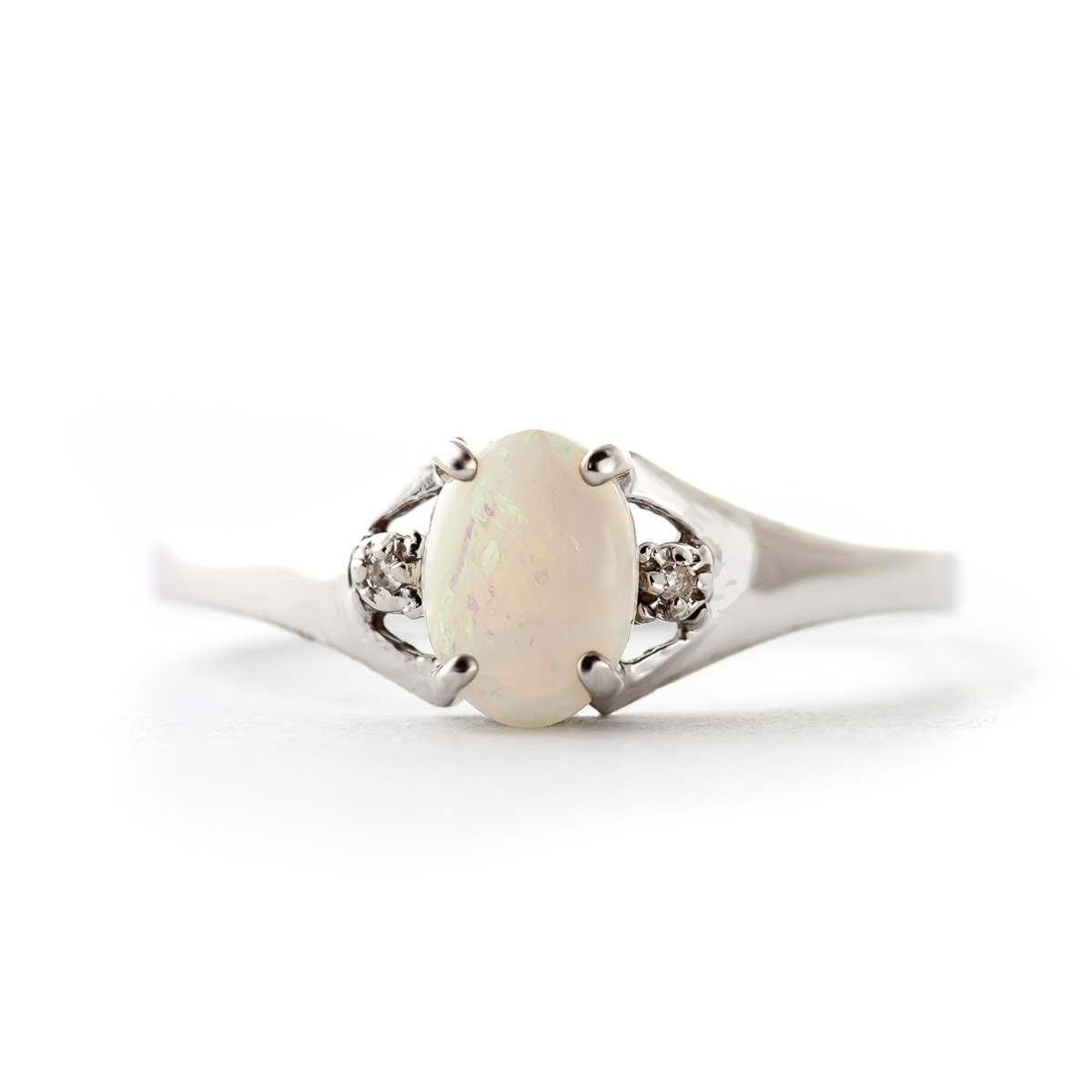 Opal and Diamond Desire Ring 0.45ct in 9ct White Gold