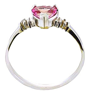 Pink Topaz and Diamond Ring 0.95ct in 9ct White Gold
