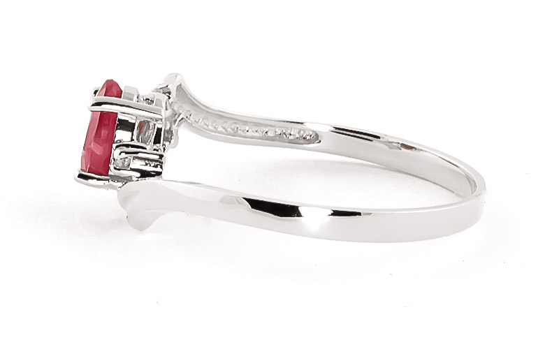 Ruby and Diamond Embrace Ring 0.45ct in 9ct White Gold