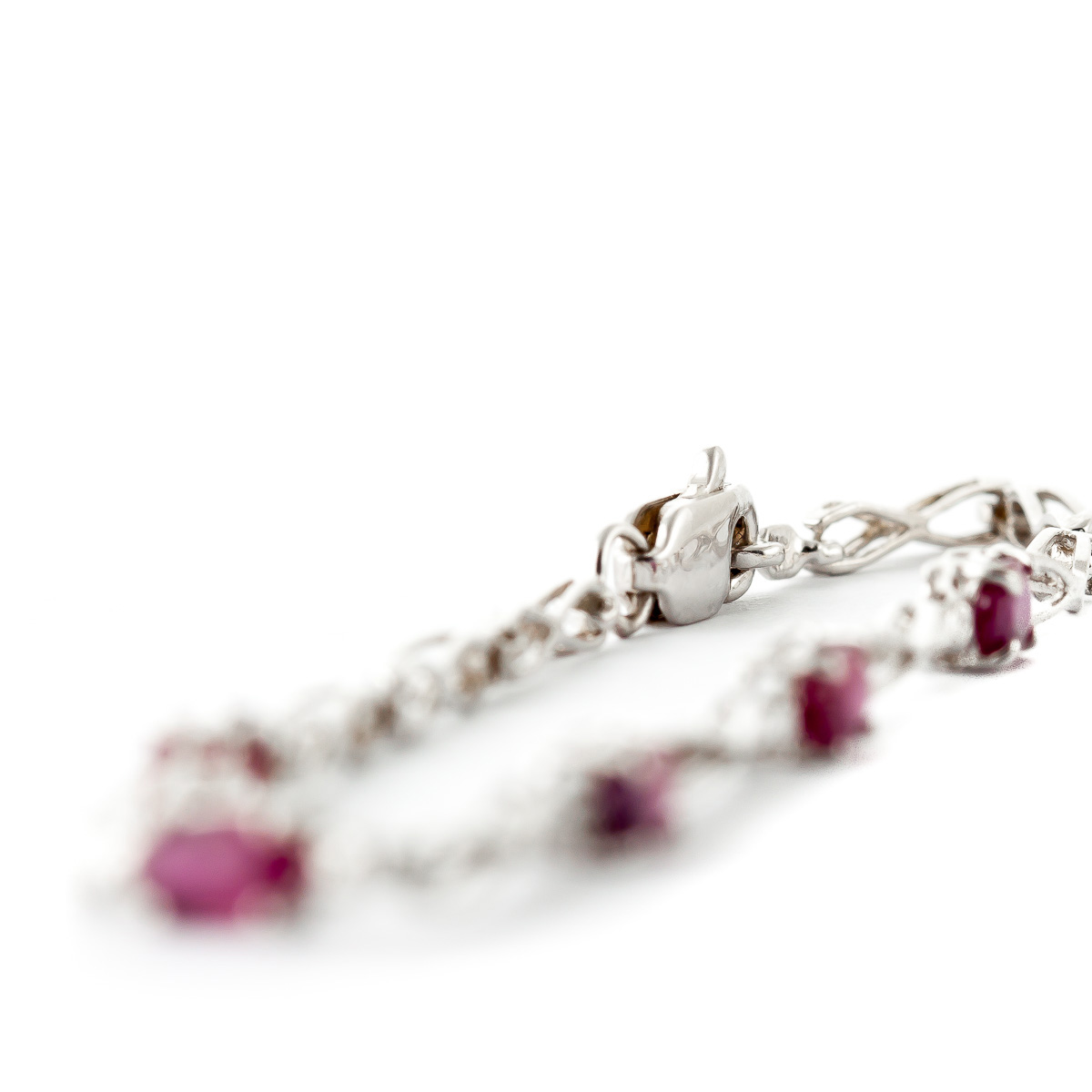 Ruby and Diamond Evert Tennis Bracelet 1.15ctw in 9ct White Gold