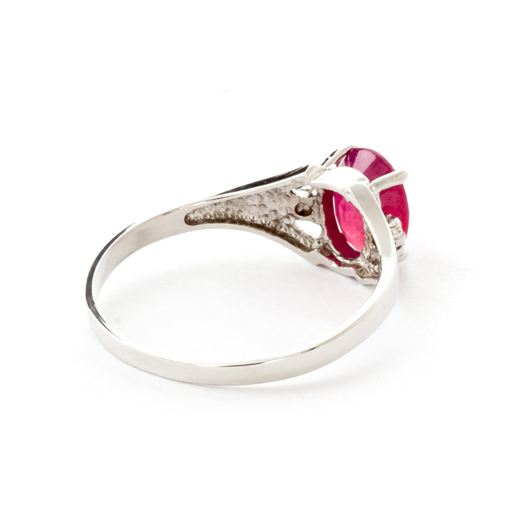 Ruby and Diamond Desire Ring 1.25ct in 9ct White Gold