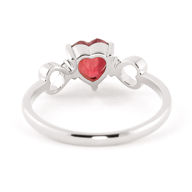Ruby and Diamond Trinity Ring 1.0ct in 9ct White Gold