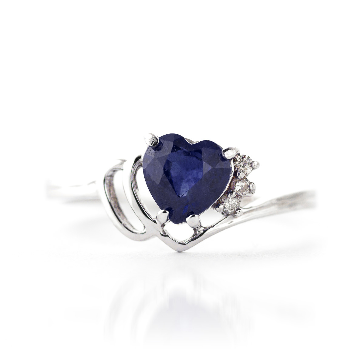 Sapphire and Diamond Devotion Ring 1.0ct in 9ct White Gold