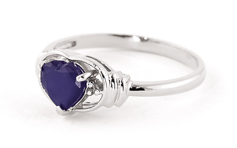 Sapphire and Diamond Ring 1.0ct in 9ct White Gold