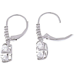 White Topaz and Diamond Belle Drop Earrings 3.0ctw in 9ct White Gold